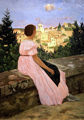 Photograph - Bazille's The Pink Dress by Cora Wandel