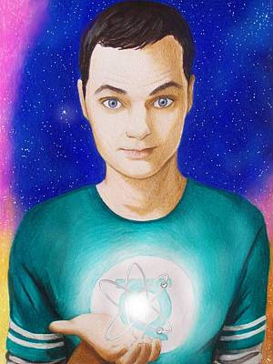Atom Drawing - Bazinga by Amber Stanford