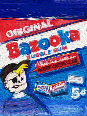Mixed Media - Bazooka Joe by Russell Pierce