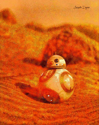 Aliens Painting - Bb-8 In The Desert - Pa by Leonardo Digenio