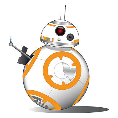 Han Digital Art - Bb-8 by Nathan Shegrud