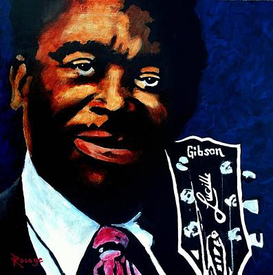 Painting - Bb King by Bernie Rosage Jr