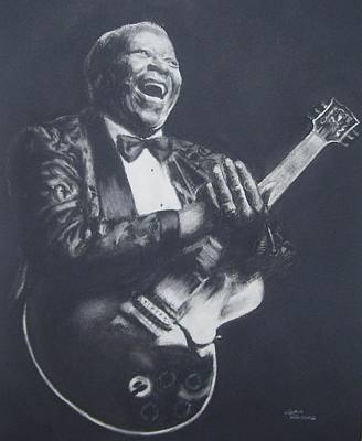 Lucille Drawing - Bb King by Cynthia Campbell