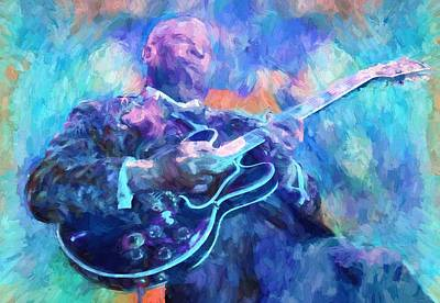 Eric Clapton Mixed Media - Bb King by Dan Sproul