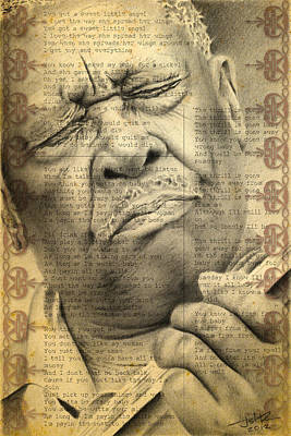 Pencil Drawing - Bb King Drawing by Jeffrey St Romain