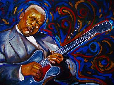 Painting - b.b KING by Emery Franklin
