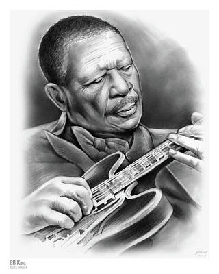 Singer Drawing - Bb King by Greg Joens