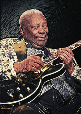 Music Digital Art - BB King by Zapista