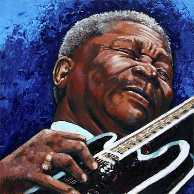Painting - Bb King by John Lautermilch