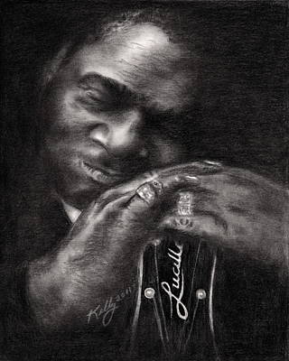 Famous People Drawing - B.b. King by Kathleen Kelly Thompson