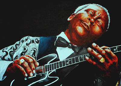 Music Painting - Bb King Of The Blues by Richard Klingbeil