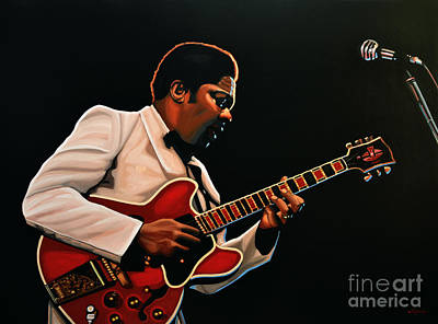 Celebrities Painting - B. B. King by Paul Meijering
