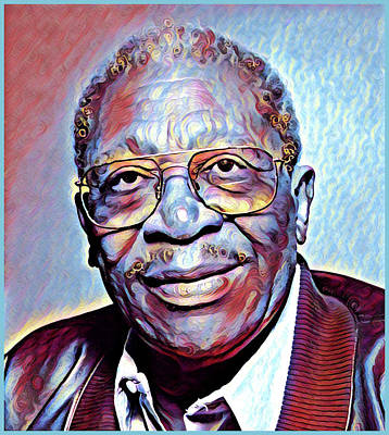 Painting - Bb King Portrait by Gary Grayson