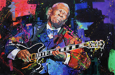 Bright Colours Painting - Bb King by Richard Day