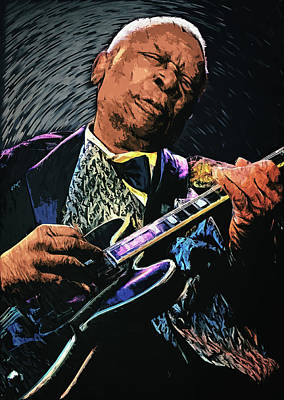 U2 Digital Art - Bb King by Zapista
