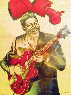 Digital Art - B B King Tribute - The Thrill Is Gone by Alec Drake