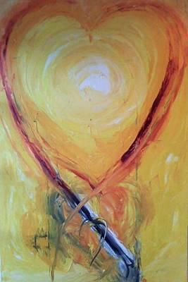 Painting - Bb The Burning Bush by Gunter  Tanzerel