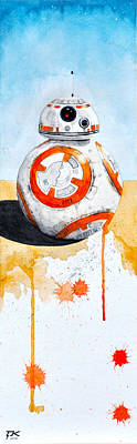 BB8 Art Print by David Kraig