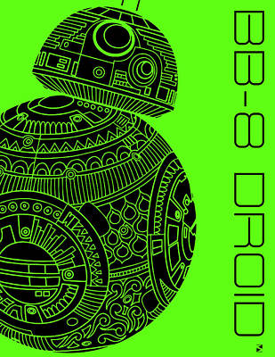 Royalty-Free and Rights-Managed Images - BB8 DROID - Star Wars Art, Green by Studio Grafiikka