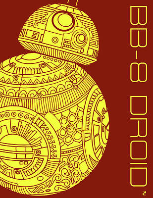 Royalty-Free and Rights-Managed Images - BB8 DROID - Star Wars Art by Studio Grafiikka