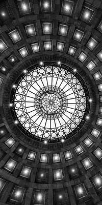 Photograph - Underneath A Rotunda Bw by Emmanuel Panagiotakis