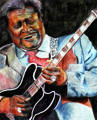 B.b.king Painting - Bbking by Frances Marino