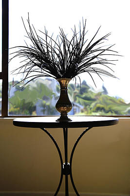 Photograph - Black Grass And Brass Vase by Nareeta Martin