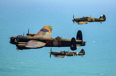 Photograph - Bbmf Eastbourne Beachy Head Flypast by Ken Brannen