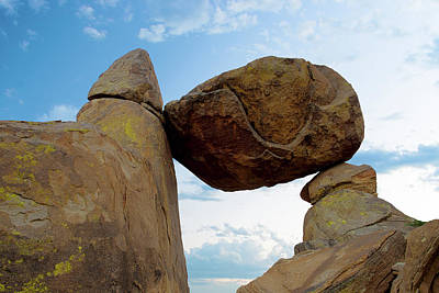 Photograph - Bbnp Balanced Rock Blue Sky 6416 by Rospotte Photography