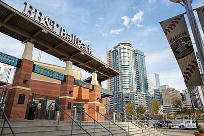 Photograph - Bbt Ballpark Charlotte by Kevin McCarthy