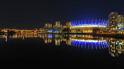 Vancouver Photograph - Bc Arena At Night  by Chris Fletcher