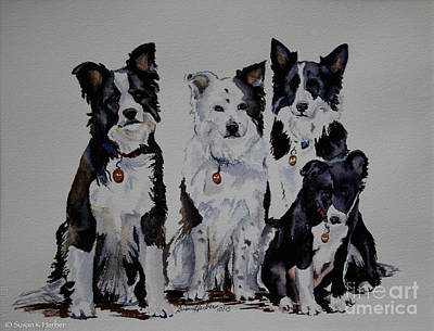 Painting - Bc Family Portrait  by Susan Herber