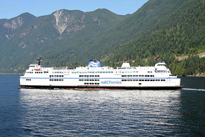 Bc Ferry Leaving At Horseshoe Bay, West Vancouver, Bc Canada.  Art Print