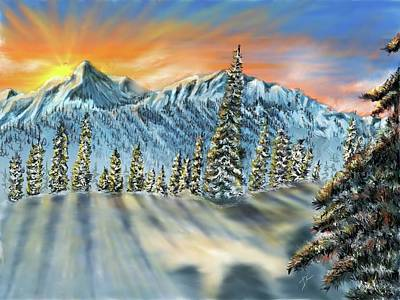 Digital Art - Bc Mountains 2 by Darren Cannell
