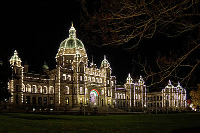 Photograph - Bc Parliament - 365-249 by Inge Riis McDonald