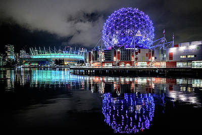 Photograph - Bc Place Stadium And Science World by Michelle Lee