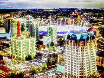 Mixed Media - B C Place Vancouver by Joseph Hollingsworth