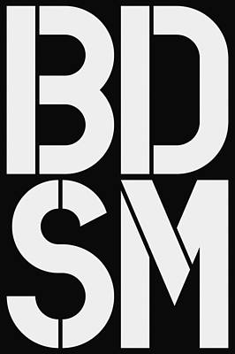 Bdsm Painting - Bdsm Black And White by Three Dots