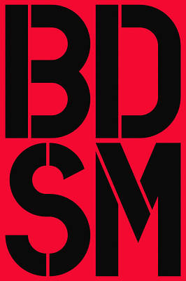 Bdsm Painting - Bdsm Red And Black by Three Dots
