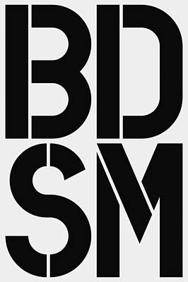Abbreviation Painting - Bdsm by Three Dots
