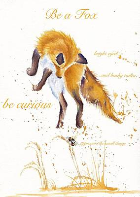 Painting - Be A Fox by Debra Hall