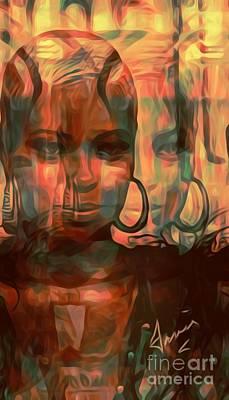 Mixed Media - A Model by Fania Simon