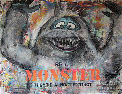 Abominable Snowman Painting - Be A Monster by Denny Stocke