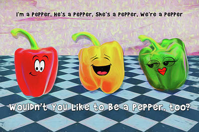 Digital Art - Be A Pepper by John Haldane