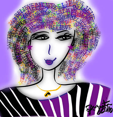 Lead The Life Digital Art - Be Attitudes - Believe by Sharon Augustin