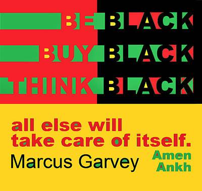Digital Art - Be Black Rbg by Adenike AmenRa