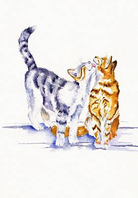 Cute Cat Painting - Be Cherished by Debra Hall