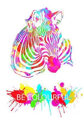 Animals Digital Art - Be Colourful by Prar Kulasekara