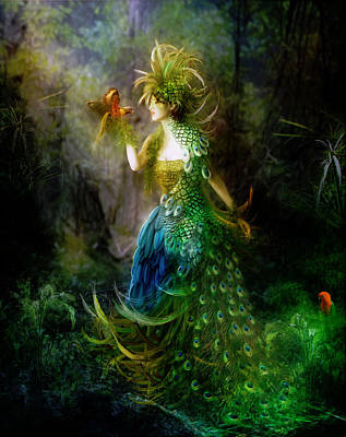 Peacock Digital Art - Be Free Little One Be Free by Mary Hood