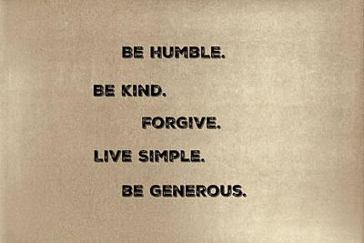 Be Generous Art Print